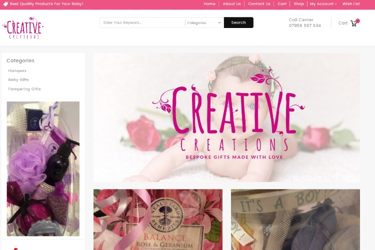 Creative Creations Online Store